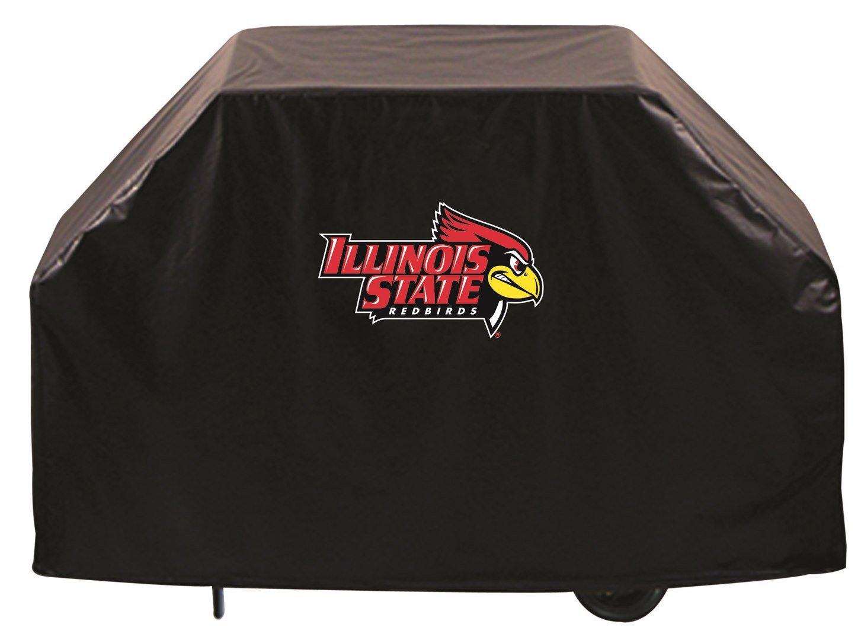 イリノイ州立大学グリルカバー鳥ロゴonてスタイリッシュなブラックビニールでカバーby HBS B004I4BE22   55