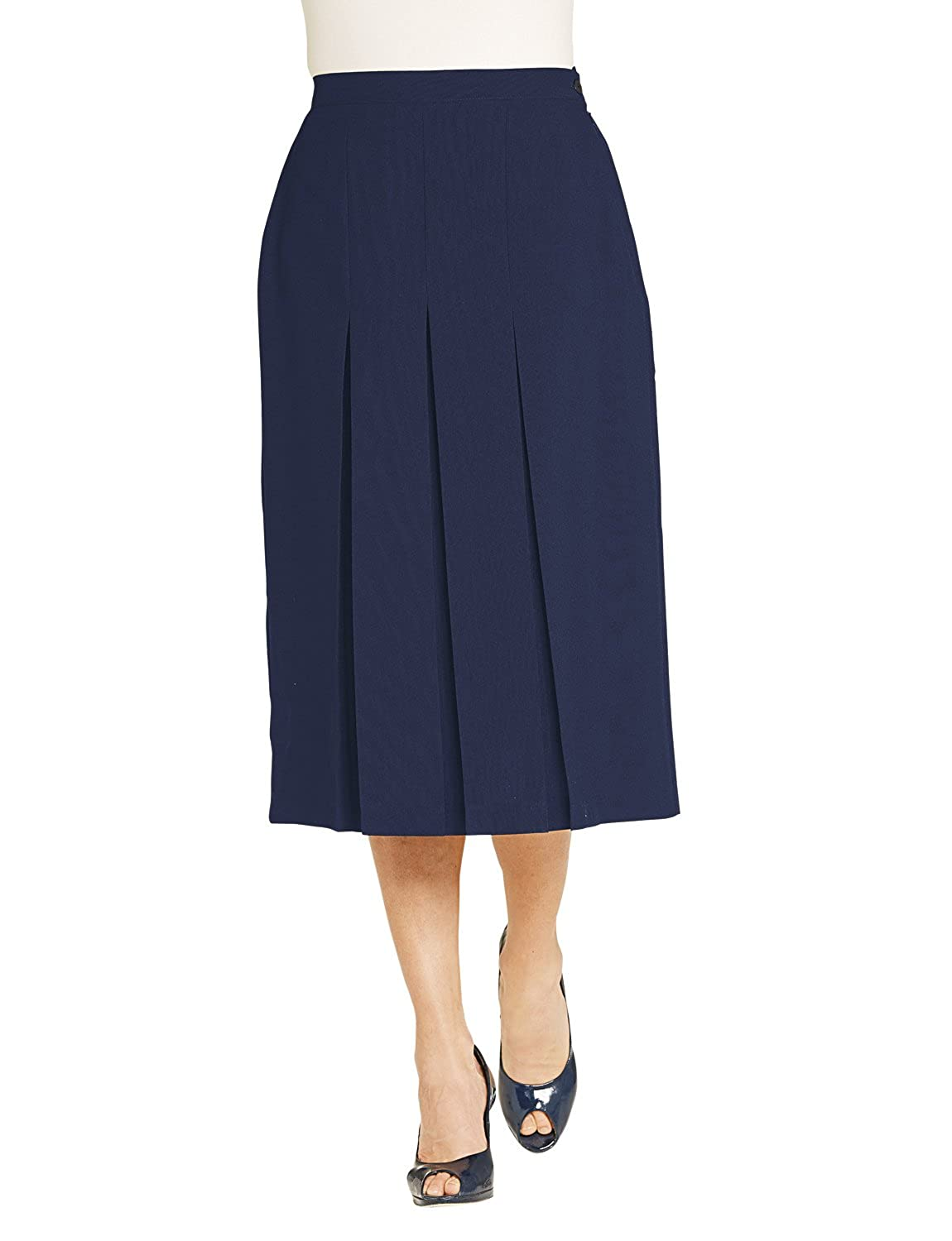 1940s Dresses and Clothing UK | 40s Shoes UK Chums Ladies Womens Inverted Pleat Skirt 27 Inches £19.99 AT vintagedancer.com