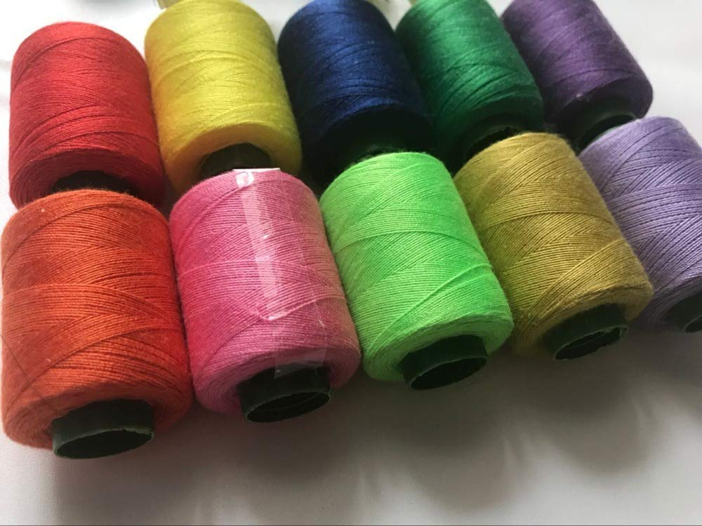 Laliva XMX-03 10 Pieces a Lot Colorful Sewing Threads for Homecraft Machine Sewing Threads by Laliva