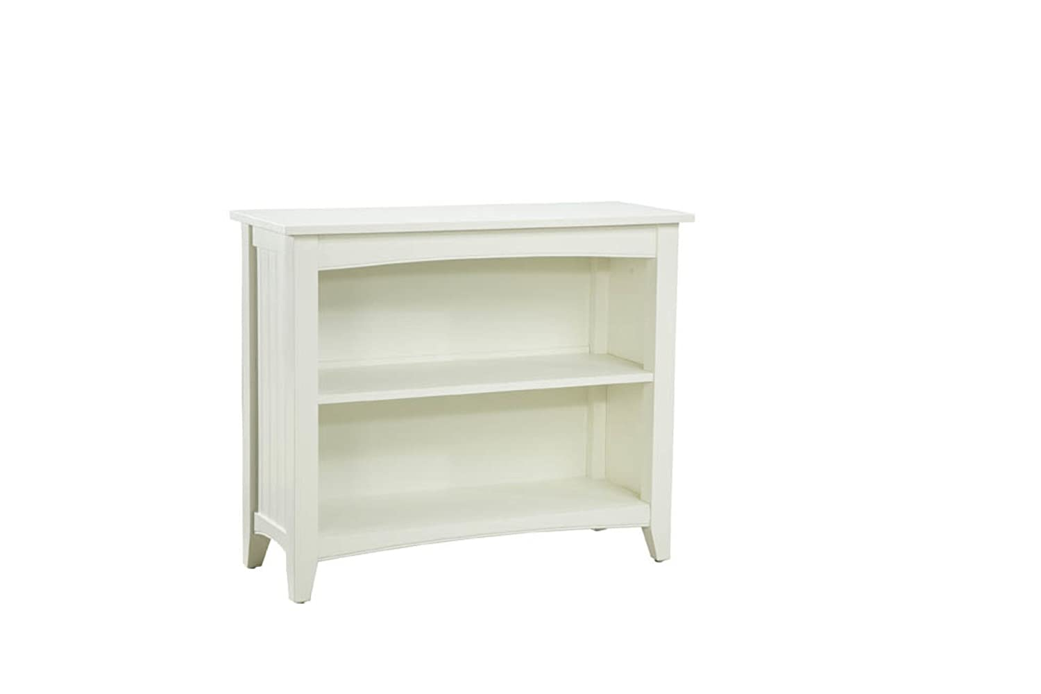 Alaterre ASCA07IV Shaker Cottage Two Shelf Bookcase - Ivory