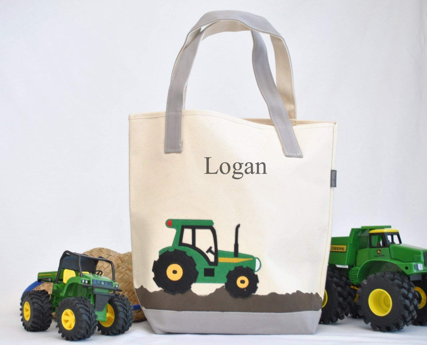 TRUCK PERSONALISED LIBRARY BAG //TOY BAG