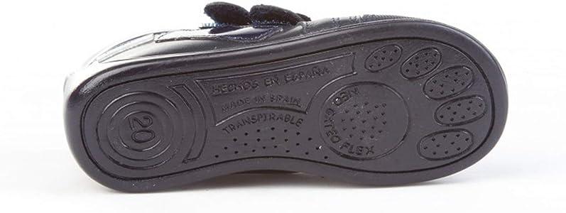 Botines para niña de Piel con Cierre de Velcro. Calzado Infantil Fabricado en España - Mi Pequeña Modelo 606I Color Azul Marino.: Amazon.es: Zapatos y complementos
