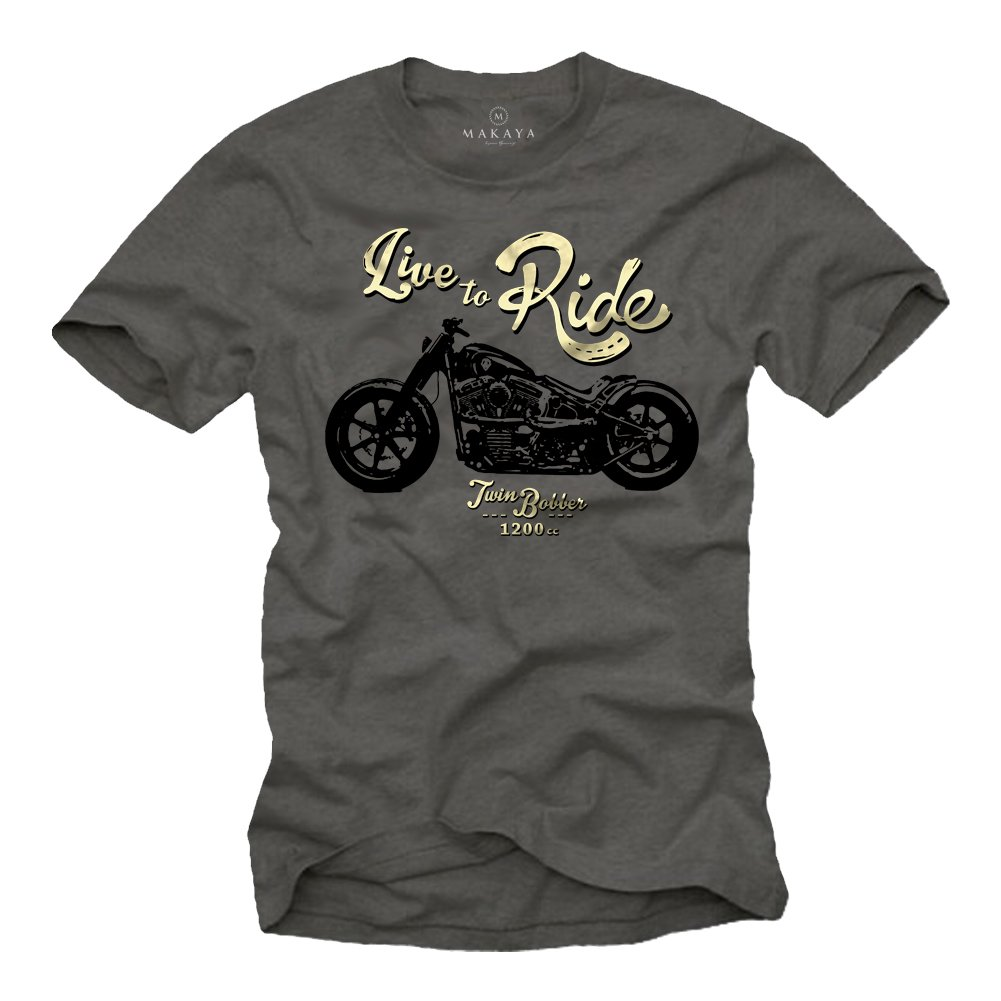 MAKAYA LIVE TO RIDE - Maglietta Biker Uomo - Abbigliamento Moto - T-shirt HTS_191