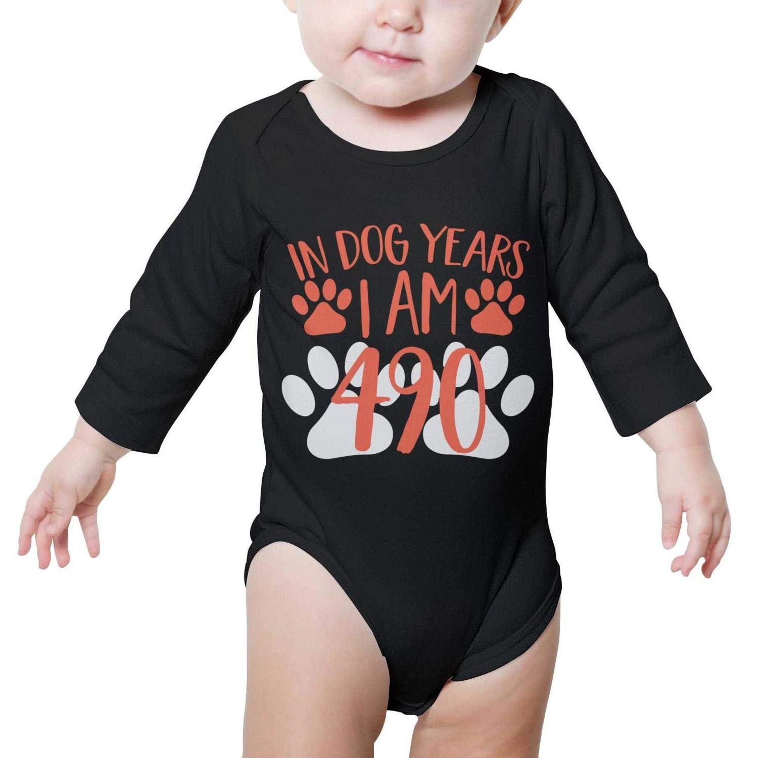 ChenHuan SHIRT ベビーボーイズ 12 Months In Dog Years B07GDJML66