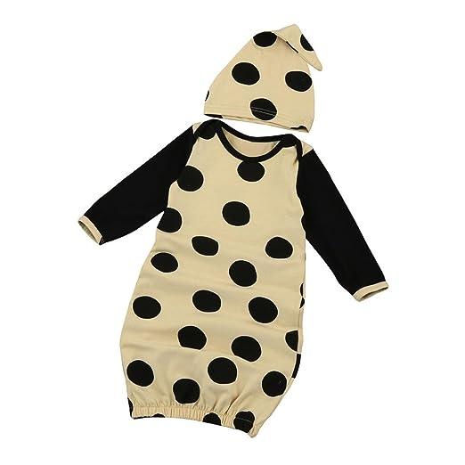 5ca4b1c65 Amazon.com  Sharemen Newborn Baby Girls Boys Long Sleeve Gown+Hat ...
