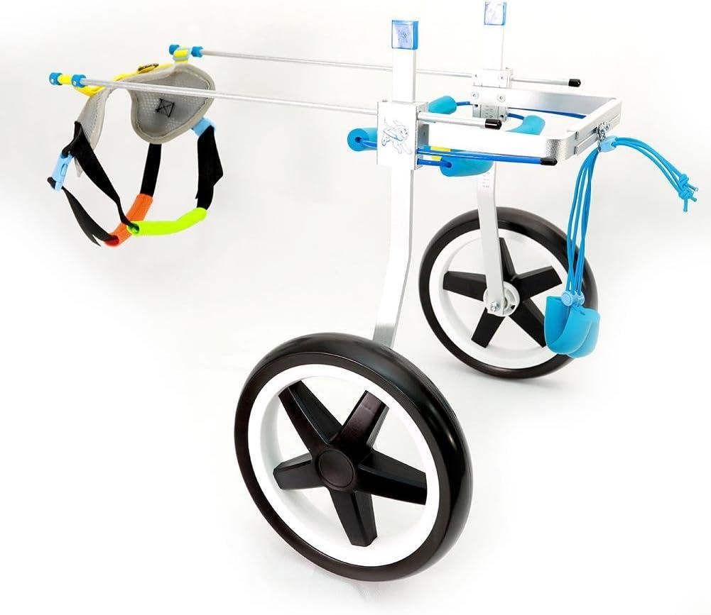 Teabelle - Silla de ruedas ajustable para perro, para rehabilitación de piernas para perros pequeños con minusvalía, perros y cachorros (2 ruedas)