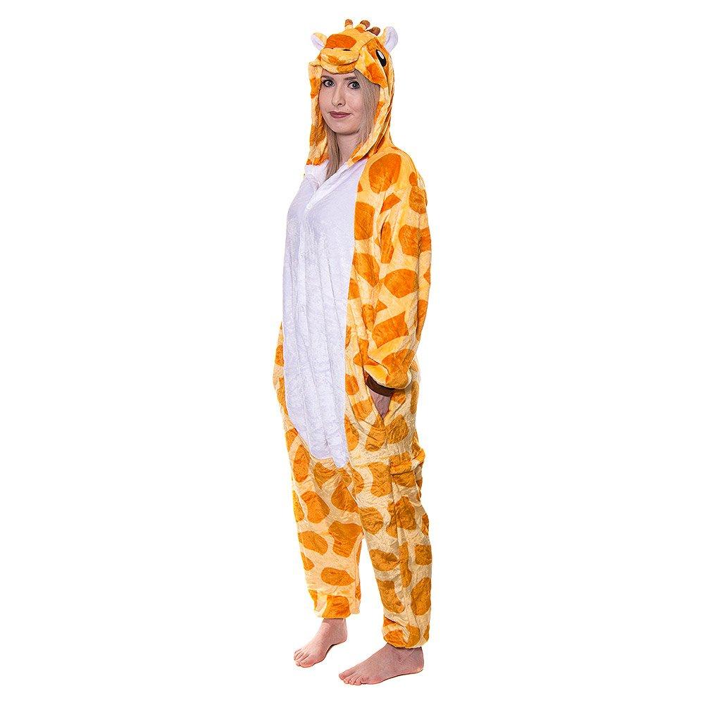 27731f86a225 Blue Banana Mens Giraffe Onesie (Orange)