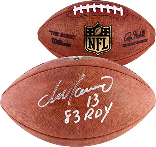 Dan Marino Signed Football (Dan Marino Miami Dolphins Autographed Duke Pro Football with 83 ROY Inscription - Fanatics Authentic Certified)
