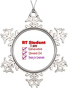 Best Friend Snowflake Ornaments Respiratory Therapy Student--Stressed Out! Vintage Snowflake Ornament