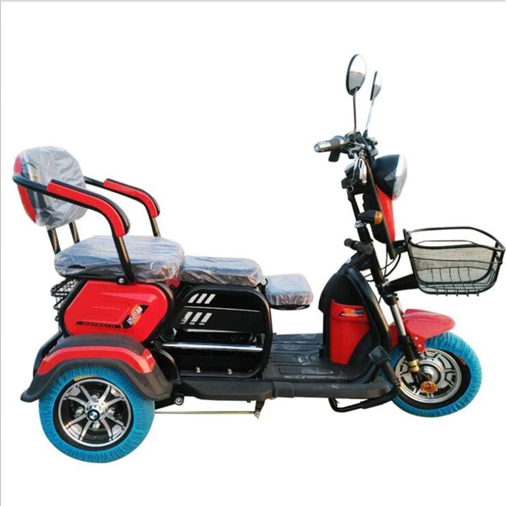 Lyanh Triciclo eléctrico Adultos de Edad Avanzada Ocio al Aire Libre los Viajes con discapacidad Scooter de móvil 48V20A batería de Litio de Carga máxima de 180 kg de Control Remoto de un botón