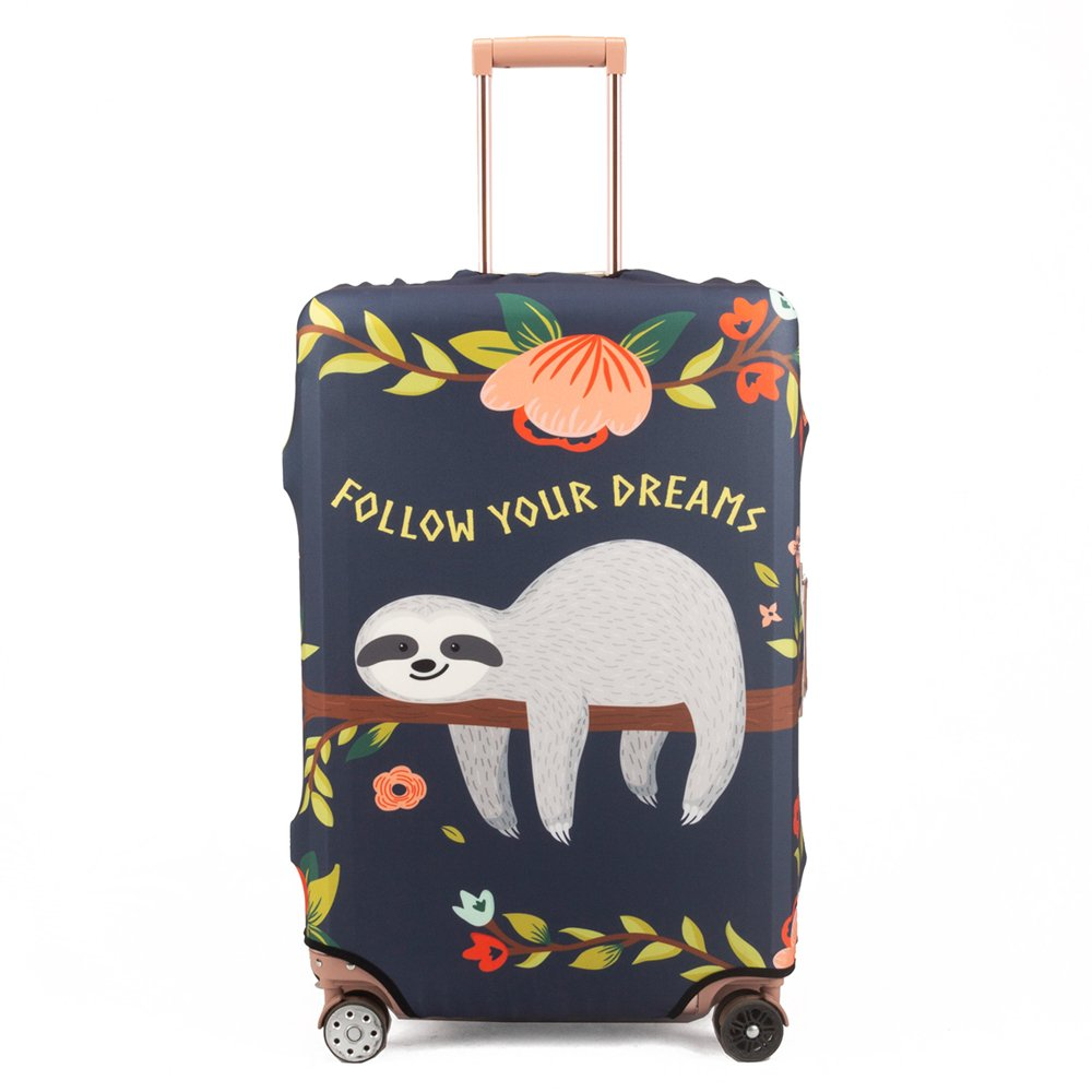 Madifennina Spandex Travel Luggage Protector Suitcase Cover Fit 23-32 Inch Luggage (sloth, XL) by Madifennina (Image #1)