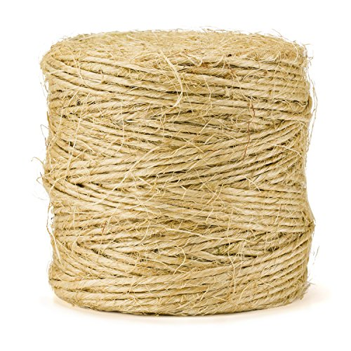 Sisal Packing Twine - 420 Feet, Heavy Duty, Premium Quality, Natural and Biodegradeable by eco-Rope ()