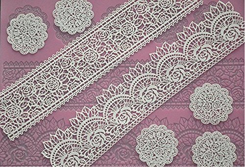 Biowow Fondant Cake Lace Embossed Silicone Cake Mould Mat Cake Mold