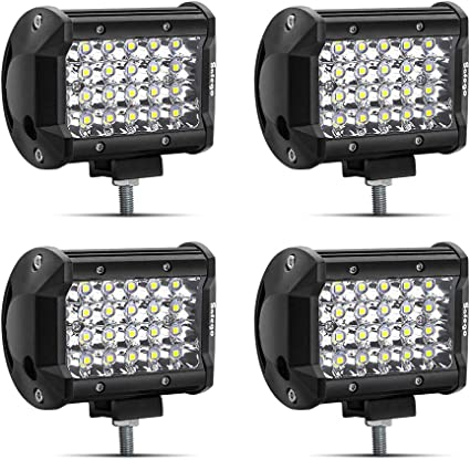 4 PACK LED Work Lights Bar Spot Pods Cube Car Boat Offroad Lamps 72W WaterProof