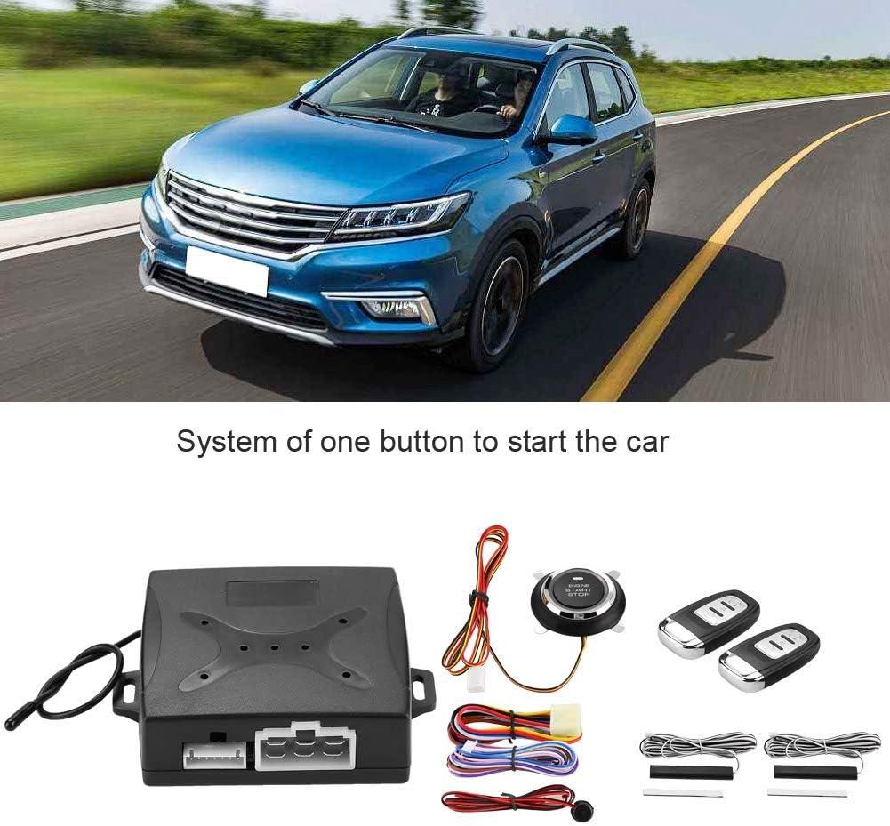 Yctze Syst/ème dalarme de voiture Syst/ème dalarme universel pour voiture Allumage moteur Entr/ée sans cl/é Bouton de d/émarrage /à distance