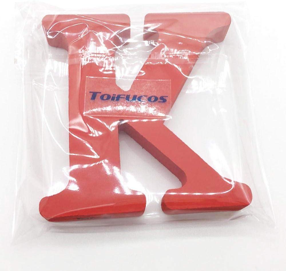 Toifucos A-Z DIY Englisch Alphabet Holz Buchstaben Handwerk Ornamente f/ür Zuhause Hochzeit Geburtstagsfeier Dekoration Zubeh/ör Holzbuchstabe Buchstabe Rot 1 pcs /&