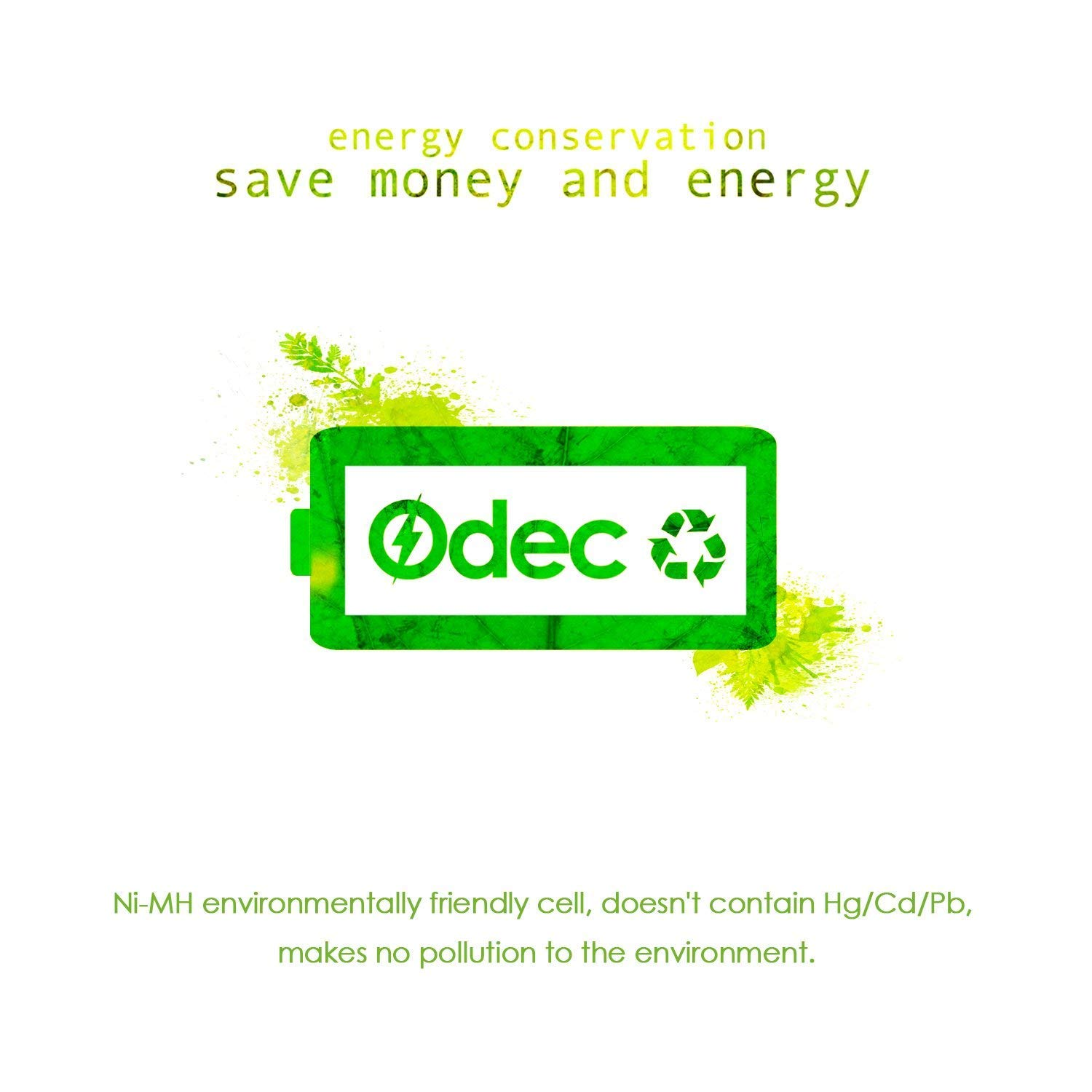 Odec C Rechargeable Batteries, Deep Cycle 5000mAh NiMH Battery Pack LR14/Baby C (4 Pack) by Odec