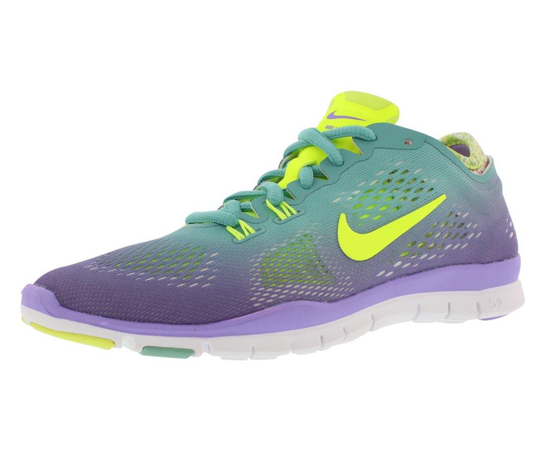 Nike Women's Free 5.0 TR Fit 4 Prt Dffsd Jade/Vlt/Atmc Vlt/White Training Shoe 9.5 Women US