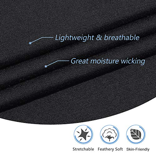 MANCYFIT Womens Pajama Sets Short Sleeve Tops with Pants Pjs Set Soft Sleepwear Black XXX-Large