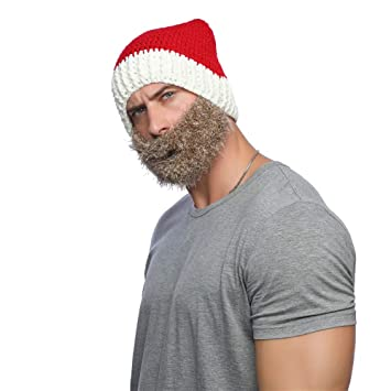 2af89809528 1PC Wig Beard Hats Handmade Knit Warm Winter Caps Christmas Hats Funny Mask  Beanie For Men Women(Red Hat Brown Beard)  Amazon.co.uk  Kitchen   Home