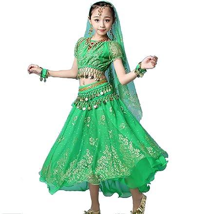 SMACO Niña FaldasDisfraz de Baile de Bollywood Indio para ...
