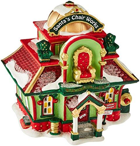 Department 56 North Pole Village Santa's Chair Works Lit House