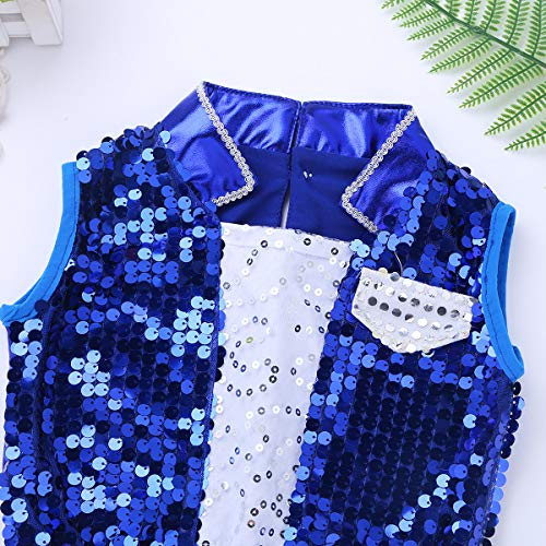 957535b4ad22 iEFiEL Kids Girls Sequins Hip Hop Modern Jazz Street Dance Costume Children  Stage Performances Dress Outfit