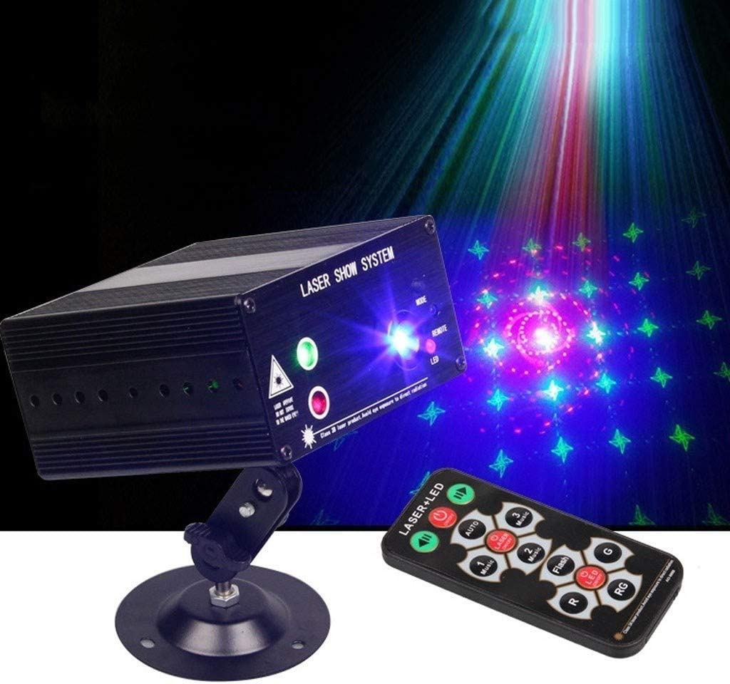 LED 3 Hole 48 Picture Light 12V Strobe Lǎser Light For Bar KTV Disco TWQtwq Disco Lights