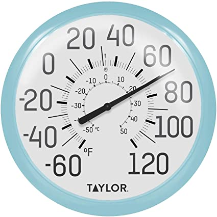 Amazon Com Taylor Precision Products 6700sb Big Bold Wall Thermometer 13 25 Sky Blue Garden Outdoor