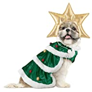 Collections Etc Christmas Tree Dog Christmas Outfit, Small