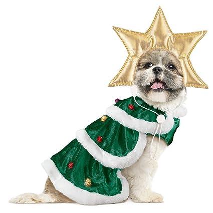 Amazon.com: Christmas Tree Dog Christmas Outfit, Small: Pet Supplies