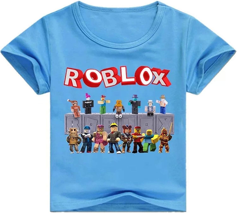 2T-12Y fashion 1938 Kids Roblox Crewneck Summer T-Shirts-Unisex Short Sleeve T Shirts for Boys Girls
