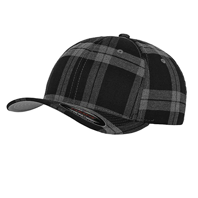 Flexfit Black/Grey Plaid-Gorra, tamaño: L/XL: Amazon.es: Ropa y ...