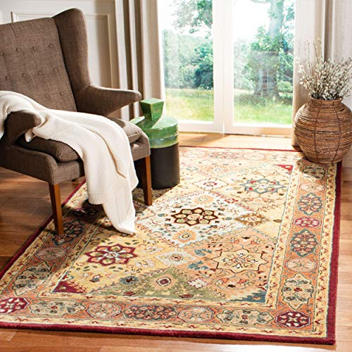 Safavieh Persian Legend Collection PL812A Handmade Traditional Red and Rust Wool Area Rug (7