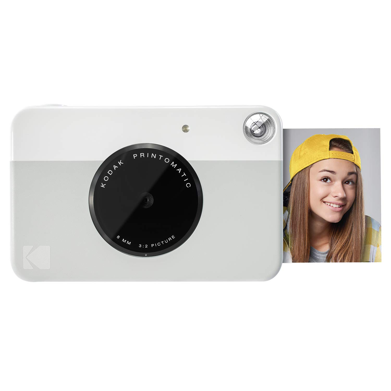 Kodak PRINTOMATIC Digital Instant Print Camera (Grey), Full