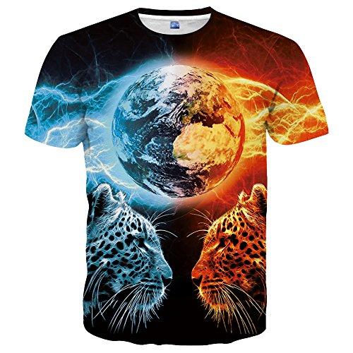 Hgvoetty Unisex 3D Print Tees Funny Pattern Animal T-Shirts for Men Women XXL ()