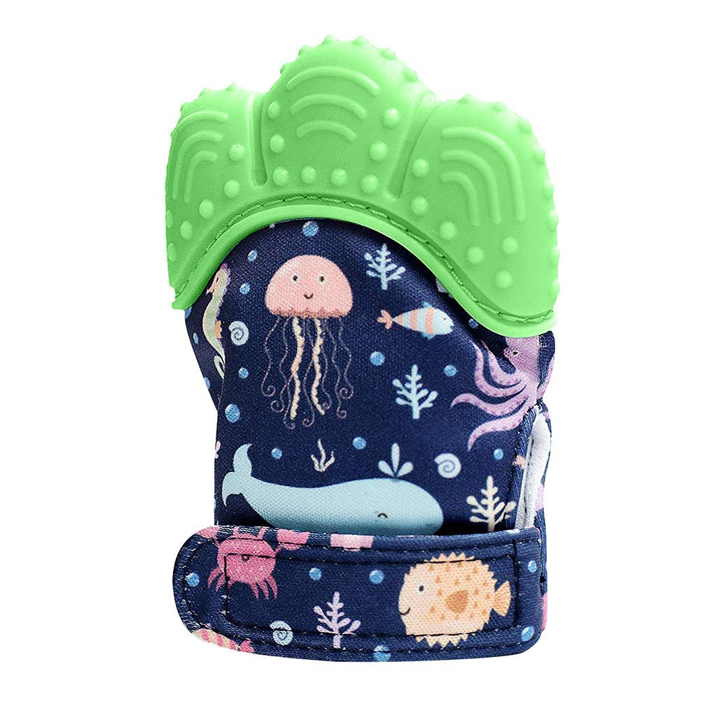 Zohto Promotion Baby Toy 2019 Summer New Design Seaword Baby Silicone Mitts Teething Mitten Molars Glove Wrapper