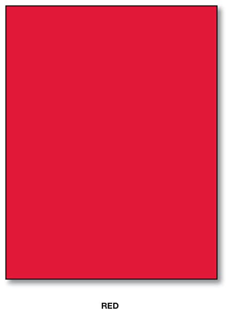 Amazon Com Red 8 5 X 11 Inches Bright Color Paper 100 Sheets