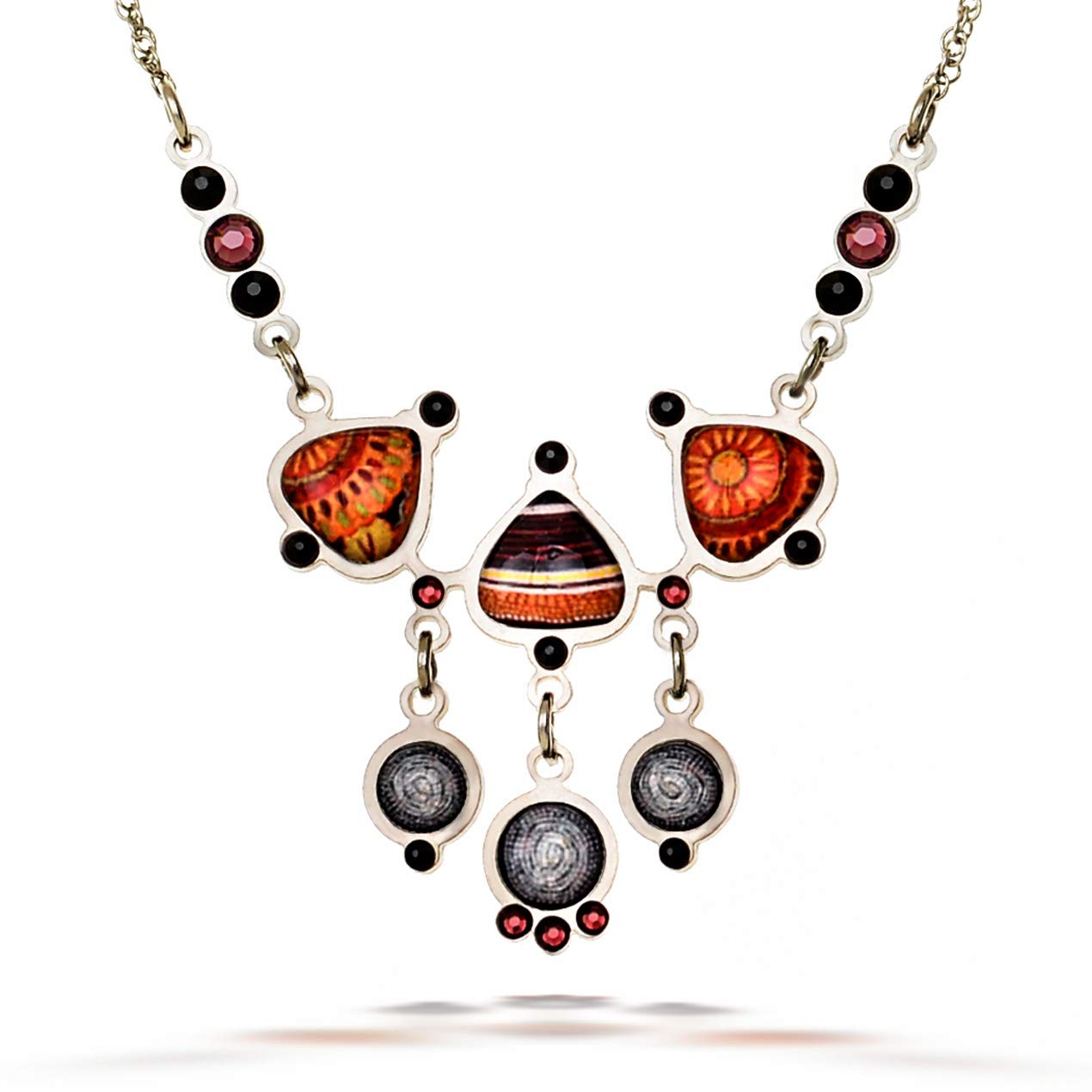 Artazia Burnt Orange and Brown Tones African Motif Zulu Fashion Necklace N5708