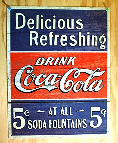Poster Discount COKE - Delicious 5 Cents Metal Tin Sign, -