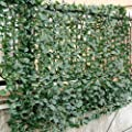 "Faux Ivy Leaf Decorative Privacy Fence Screen Artificial Hedge Fencing 40""x95"""