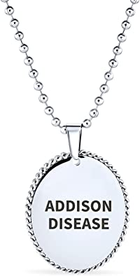 Rose Gold or Black Stainless Steel Medical ID Oval Pendant Gold CUSTOM ENGRAVE Silver