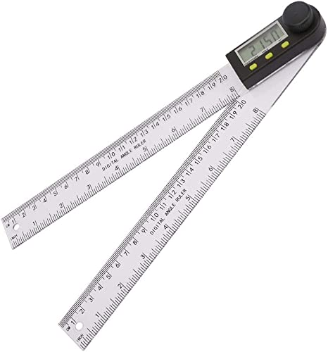 """Electronic LCD Digital Angle Finder 8/"""" 200mm Protractor Ruler Goniometer+Battery"""