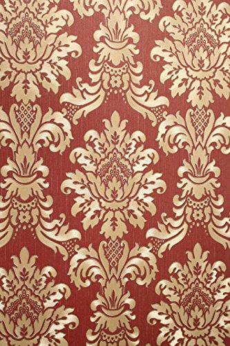 Vinyl Tapete Barock Retro # rot/gold # Kingwelson # 680010
