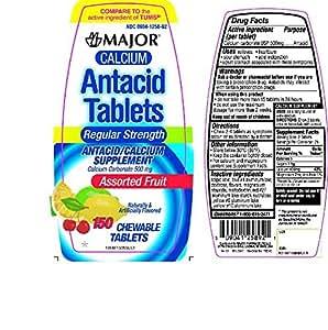 Amazon.com: Major Calcium Antacid Chewable Tablets ...