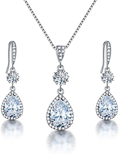 Women Bridal Rhinestone Crystal Water Drop Stud Earrings Wedding New Funny
