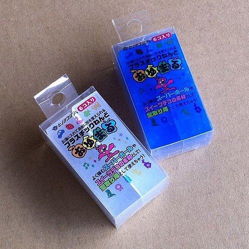 Hinodewashi Oyumaru monochromatic clear and blue set (each pack of 6) (japan import) Shimamoto art supplies OO-250C-OO-250B