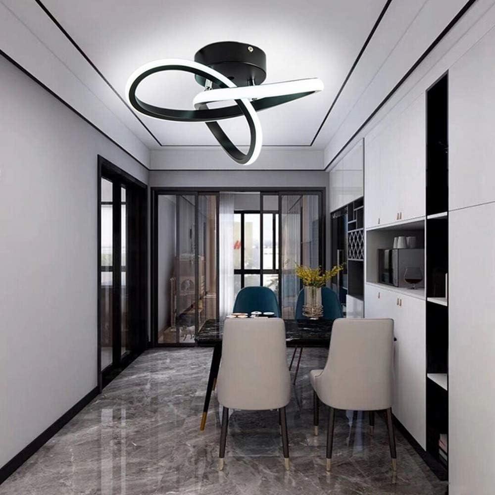 Dormitorio Goeco L/ámparas de Techo Sala de Estar 3000K-6500K 3 temperaturas de Color di/ámetro 24cm Plaf/ón LED acr/ílica Forma de Flor 22W para Pasillos