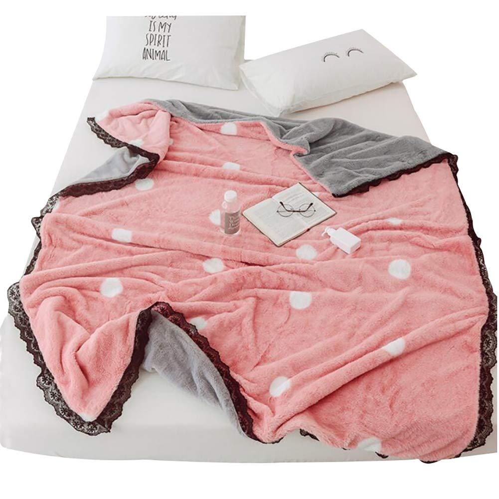 HSBAIS ウインター毛布キルトカバーは完全/キングサイズ - 柔らかい暖かい毛布ウサギのベルベットは赤ちゃん大人のために厚くなっています暖かいシート 寝具毛布,pink_150*200cm B07K77994W Pink 150*200cm