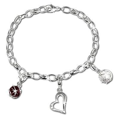 2b21408503 SilberDream Charms Armband Set - Liebe - 925 Sterling Silber Charm Armband  und Anhänger - FCA300: SilberDream: Amazon.de: Schmuck